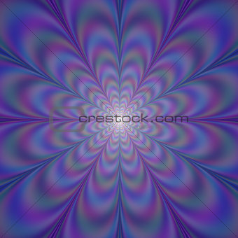 Blue and Violet Light Rosette
