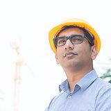 Asian Indian engineer portrait