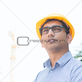 Asian Indian engineer portrait