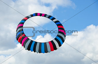circular kite in sky