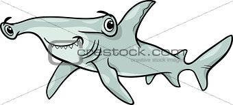 hammerhead shark cartoon illustration