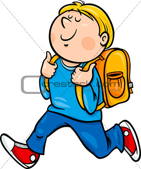 boy grade student cartoon illustration