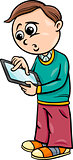 grade school boy cartoon illustration