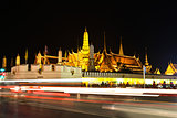 Night view of grand palace in bangkok, Thailand.