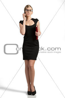 business woman talking with smart-phone