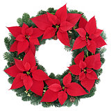 Poinsettia Flower Wreath