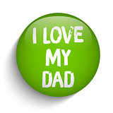Happy Fathers Day Green Icon Button