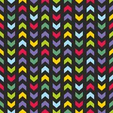 Vector Chevron seamless dark colorful tile pattern