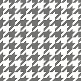 Houndstooth seamless grey and white vector pattern or tile background.