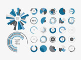 Infographic Elements Pie chart set icon