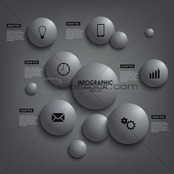 Abstract info graphic round element poster template