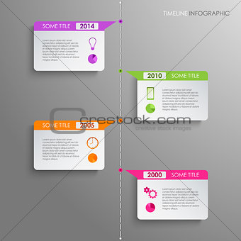 Time line info graphic template