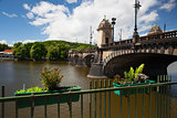 The famous Bridge of Legions in Prague