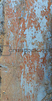 Aged wooden painted surface