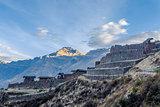 Pisac ruins Cuzco Peru