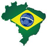 Brazil soccer heart