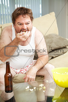 Couch Potato Eats Popcorn