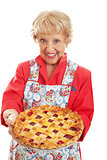 Retro Granny with Homemade Pie