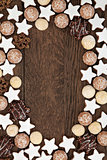 Gingerbread Biscuit Background