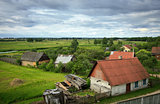 belarusian village at summer