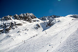 Ski resort of Neustift Stubai glacier Austria