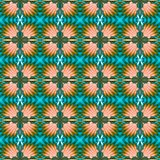 Seamless decorative pattern with crosses