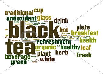 Black tea word cloud