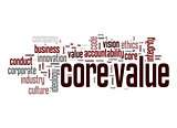 Core value word cloud