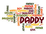 Daddy word cloud