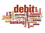 Debit word cloud