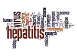 Hepatitis virus word cloud