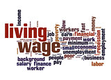 Living wage  word cloud
