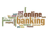 Online banking word cloud