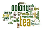 Oolong tea word cloud