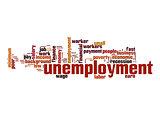 Unemployment word cloud