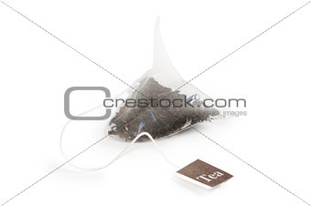 Tea bag on a white background