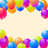 Bright Ballon Frame Background