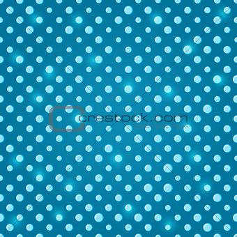 Green Blue Polka Dot Seamless Pattern