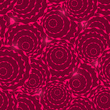 Seamless Pattern with Abstract Simple Rose