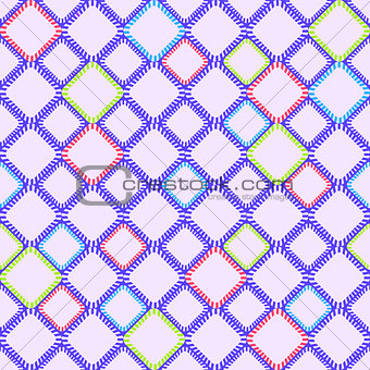 Abstract Geometric Seamless Pattern with line and Rhombus