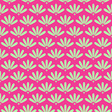 Pink Floral Stylized Simple Seamless Pattern