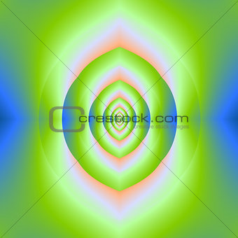 Green Pink and Blue Labyrinth Cave