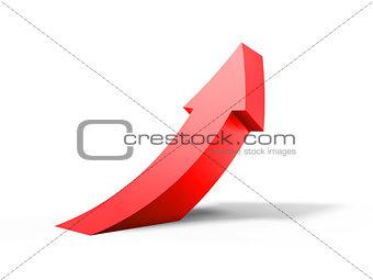 arrow curve up