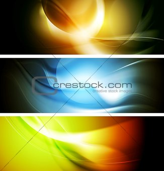 Bright wavy background. Gradient mesh