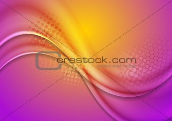 Abstract bright waves background
