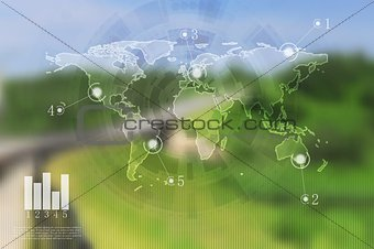 Abstract vector infographics design. Gradient mesh