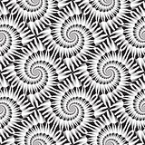 Design seamless monochrome spiral rotation pattern