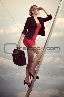 business woman dreaming