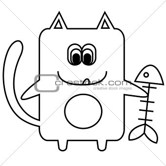 Vector illustration of cat