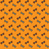 Seamless pattern. Bows. Vector.